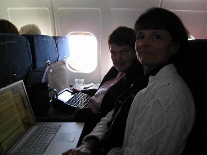 Judy & Cynthia going to DC